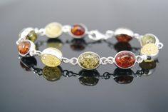 Silver 925 bracelet with Baltic amber Baltic Amber, Beaded Bracelets, Silver, Jewelry, Jewels, Jewlery, Money, Bijoux, Pearl Bracelets