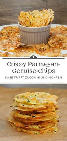 Crispy Parmesan Vegetable Chips - A Little Pinch of Anna - . - Crispy Parmesan Vegetable Chips – A Pinch of Anna – # Parmesan Vegetabl - Vegetable Chips, Vegetable Recipes, Vegetarian Recipes, Snack Recipes, Paleo Food, Paleo Diet, Easy Recipes, Healthy Recipes, Parmesan Chips