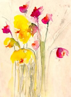 "Saatchi Art Artist Karin Johannesson; Painting, ""Fallen flowers II"" #art"