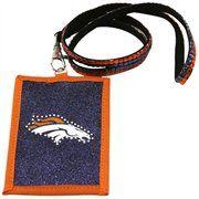 @Fanatics ®  #FanaticsWishList  Denver Broncos Ladies Beaded Rhinestone Lanyard Wallet