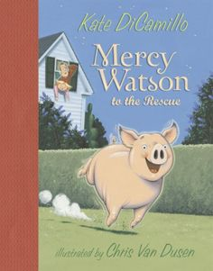 After Mercy the pig snuggles to sleep with the Watsons, all three awaken with the bed teetering on the edge of a big hole in the floor.
