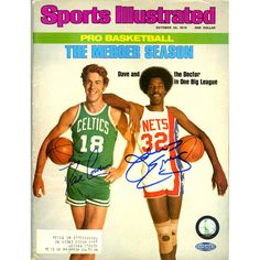 Dave Cowens/Julius Erving Dual Signed 10/25/76 Sports Illustrated Magazine