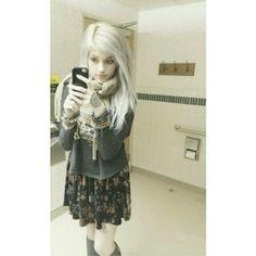 Leda Muir platinum white hair #ledamonsterbunny #hailedabear