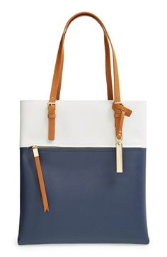 Vince Camuto 'Tyler' Two-Tone Leather Tote available at #Nordstrom