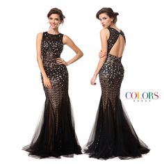 Beautiful Beading! COLORS DRESS Style 1160 #gown #beading #sexy #hair #prom #promshopping