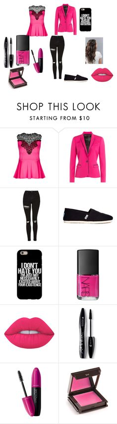 """""""Rebel"""" by elsie-clark ❤ liked on Polyvore featuring City Chic, Barbara Bui, Topshop, TOMS, NARS Cosmetics, Lime Crime, Lancôme, Revlon and Jouer"""