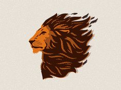 lion head illustration by Emrich Office