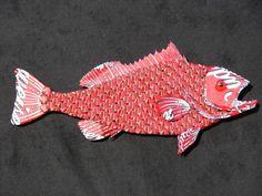 Metal Bottle Cap Fish Wall Art - Grouper (Capper 3). $400.00, via Etsy.