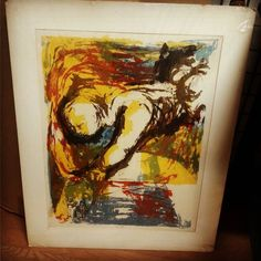 Rosemary Zwick 1964 Signed Matted Litho $25  #mercantile_m #MercantileM #Andersonville