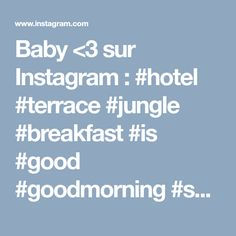 Baby <3 sur Instagram : #hotel #terrace #jungle #breakfast #is #good #goodmorning #summer #love #holidays #pornfood #food #fruit #the #cafe #amazing #fabulous… • Instagram