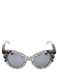 0e8e4e0b0ee D G Swarovski embellished sunglasses - Host Pick Filigree metal frame  Swarovski embellished frame Cat eye style Made in Italy New in gorgeous  luxurious ...