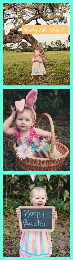 """i have one of these lil chalk boards.i bought for mine s """"save the date pics"""".i actually have 3 of them, this would be cute to use in your pics Holiday Photography, Spring Photography, Cute Photography, Children Photography, Spring Pictures, Easter Pictures, Holiday Pictures, Spring Pics, Emerson"""