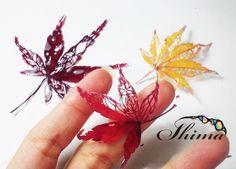 Опавшие листья из срезанных рисунке 1