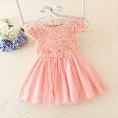 Peach 3d Rose Bushes #Lovely #Party #Dress