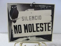 CH. 14 - Genuine Vintage do not Disturb Sign from Hotel Nacional Havana Cuba 1950'S