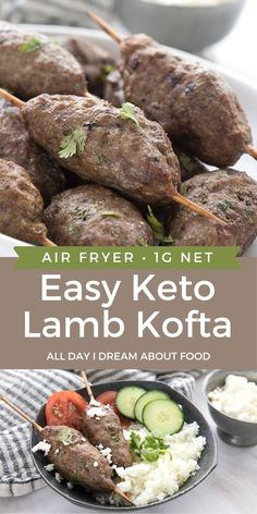 A delicious keto lamb kofta recipe, made extra easy in your air fryer. Great Middle Eastern flavor for a simple low carb dinner in minutes.