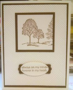 Love card for OWH, Masculine, CAS, using my favorite stamp set ever - Lovely As A Tree by Stampin Up