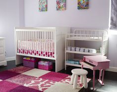 Nursery with FLOR carpet tiles. From EcoBungalow-LA. Robin Wilson Home @Robin Wilson