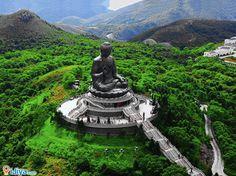 Tian Tan Buddha, Lantau Island, Hong Kong  @ http://ijiya.com/8236746