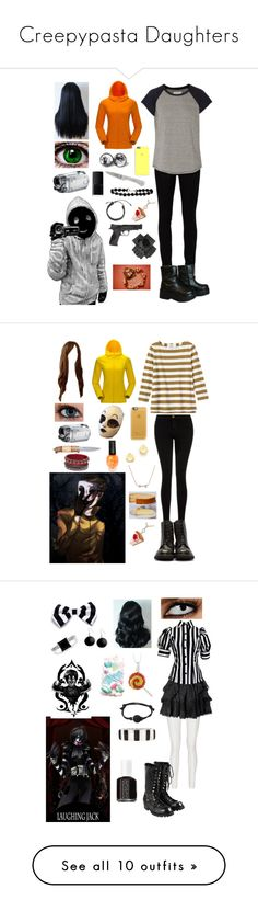 """Creepypasta Daughters"" by ender1027 ❤ liked on Polyvore featuring Yves Saint Laurent, Current/Elliott, Kenzie, NARS Cosmetics, Smith & Wesson, Claude Dozorme, Toast, Freddy, Casetify and Kate Spade"