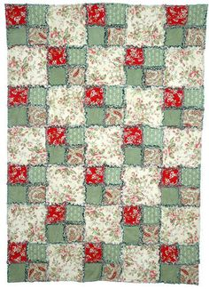 Easy Quilt Pattern  Ruby's quilt. It was indeed easy enough. But I sewed it regularly instead of making the fringe on the seams.