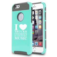 For iPhone SE 5s 6 6s 7 Plus Shockproof Impact Case Love Trucks Cowboys Country $15