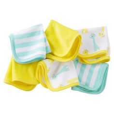 Just One You™Made by Carter's® Newborn 6 Pack Giraffe Washcloth Set - Yellow