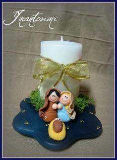 Este no es un queque pero me parece una buena idea tomarlo como ejemplo, haciendo la candela de pastel, y el pesebre con pasta de azúcar. QUE LES PARECE!!!!!!