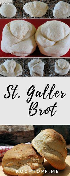 St. Galler Brot ist eines der beliebtesten Schweizer Kantonsbrote. Auffallend sind Nase, Riss auf der Vorderseite und seine Höhe. #brot #rezept St. Galler Brot, Camembert Cheese, Bakery, Rolls, Food And Drink, Bread, Cooking, Food Blogs, Yum Yum