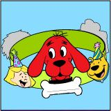 A Clifford Birthday Crown-Could use this instead of party hats