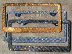 High Quality Swarovski Crystal Bling License Plate by IcyCouture