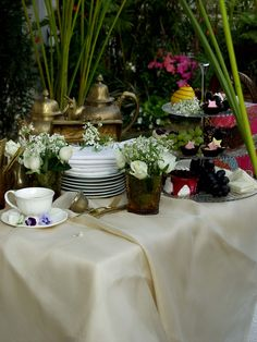 tea in the garden ...#Repin By:Pinterest++ for iPad#