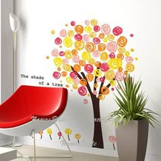 Colorful Tree-Vinyl Wall Decal,Sticker,Nature Design $55.00 #decal_wall_art #wall_decor #diy