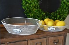 $27.50 {Industrial Details} Distressed Numbered Wire Basket, Set Of 2~Enjoy Today's Steal from DECOR STEALS