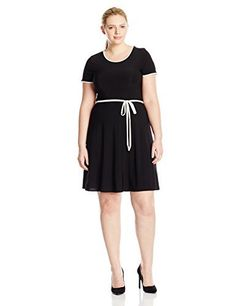 "Product review for Star Vixen Women's Plus-Size Short-Sleeve Tipped Skater Dress with Tie Belt.  - Short sleeve tipped skater dress with tie belt   	 		 			 				 					Famous Words of Inspiration...""I argue very well. Ask any of my remaining friends. I can win an argument on any topic, against any opponent. People know this, and steer clear of me at parties. Often, as a sign of their..."