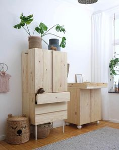 Pretty Movement - The place to be to check out inspiring IKEA Hacks. - Prettypegs - Six Fab Ikea Ivar Hacks! Kids Bedroom, Bedroom Decor, Ideas Habitaciones, Deco Kids, Coffee Table With Storage, Furniture Legs, Outdoor Furniture, My New Room, Girl Room