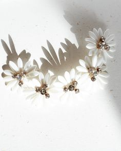 While the starting to bloom. Bridal Accessories, Bridal Jewelry, Braid Styles, Magnolia, Braids, Bloom, Stud Earrings, Flowers, Hair