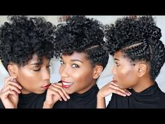 QUICK Holiday + Corporate Updo | Fluffy Natural Hairstyle [Video] - Black Hair Information