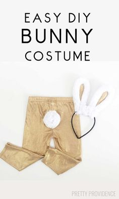 So easy. No sew. VERY cute. Make this toddler or kid bunny costume for Halloween!
