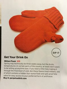Mitten Flask. Fleece