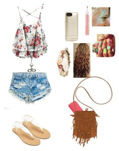 """Coachella"" by pretty-girl-prep ❤ liked on Polyvore featuring Michael Kors, Runwaydreamz, Billabong, Forever 21, Stila and Mophie"