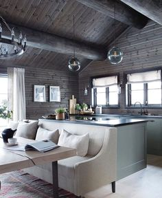 42 Inspiring Home Interior Cabin Style Design Ideas. Rustic charm is something that has gotten a lot of press lately. Some people like. House Design, House, Interior, Home, Modern Cabin Interior, Living Room Interior, House Interior, Interior Design, Rustic House