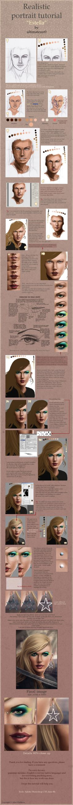Realistic portrait tutorial by =totallyzer0 on deviantART ✤ || CHARACTER DESIGN REFERENCES | キャラクターデザイン | çizgi film • Find more at https://www.facebook.com/CharacterDesignReferences & http://www.pinterest.com/characterdesigh if you're looking for: #color #theory #contrast #animation #how #to #draw #paint #drawing #tutorial #lesson #balance #sketch #colors #painting #process #line #art #comics #tips #cartoon || ✤