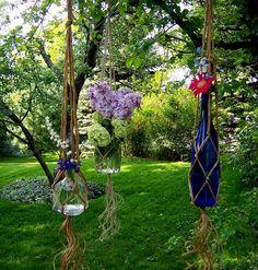 It's Knot You It's Me Macrame Bottle Hanger by BeautifulPurpose