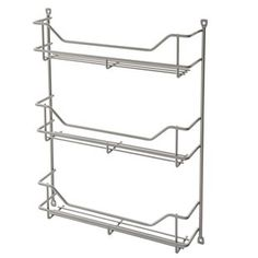 ClosetMaid premium kitchen cabinet organizers offer versatile and easy solutions for any cabinet in your home! This platinum-finish cabinet door spice rack offers convenient organization options for you kitchen.