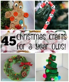 45 Christmas crafts for preschoolers! Perfect holiday crafts for kids!