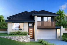 Waterford 234 - Split Level, Home Designs in Sydney - South West (Narellan) Luz Natural, Style At Home, Split Level House Plans, Bungalow Floor Plans, Simple House Plans, Facade House, House Front, Modern House Design, Home Builders