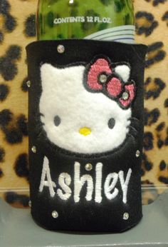 SODA CAN  STYLE Koozie  personalized with rhinestones by gumbalina, $14.95