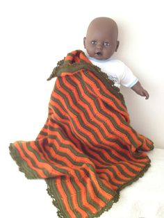 36 x 32 Crochet Baby BlanketBedspread Afghanstroller by ArtofBaby, $51.00