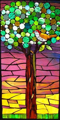 Tree 1 ~NFS~ | vintage framed glass on glass mosaic | Flickr - Photo Sharing!